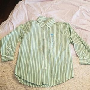 The Children's Place Stripe Button Down Shirt NWT
